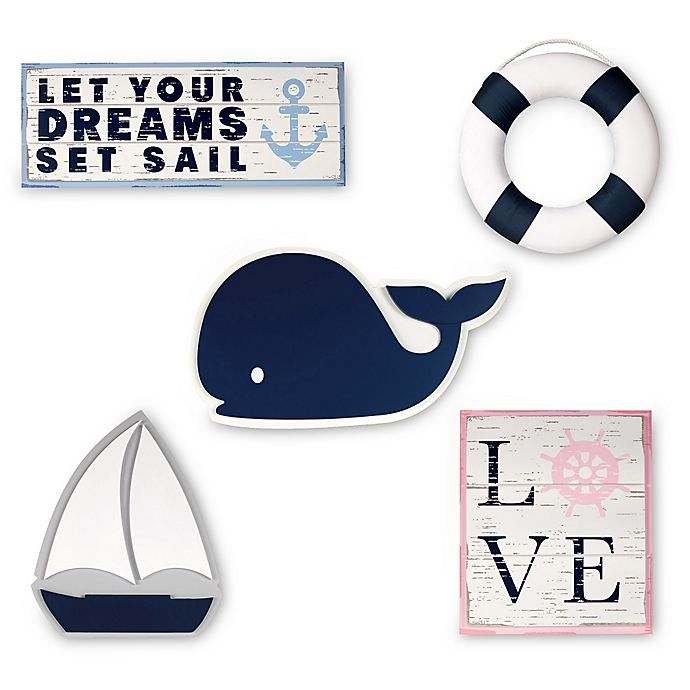 Alternate image 1 for Nautica Kids® Mix & Match Nautical Wall Décor Collection