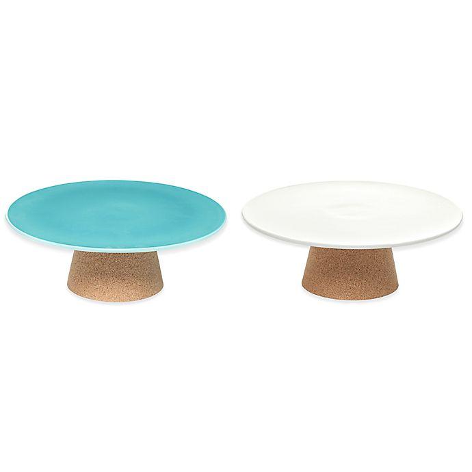 Alternate image 1 for Amorim Cork Rendezvous Medium Ceramic Cake Stand