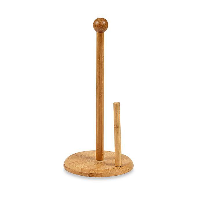 Alternate image 1 for Home Basics® Bamboo 13-1/2 Inch Paper Towel Holder