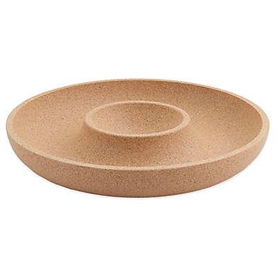 Amorim Cork I Fill Apart Chip and Dip Bowl in Tan