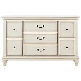 Pulaski Madison 7-Drawer Dresser in Antique White
