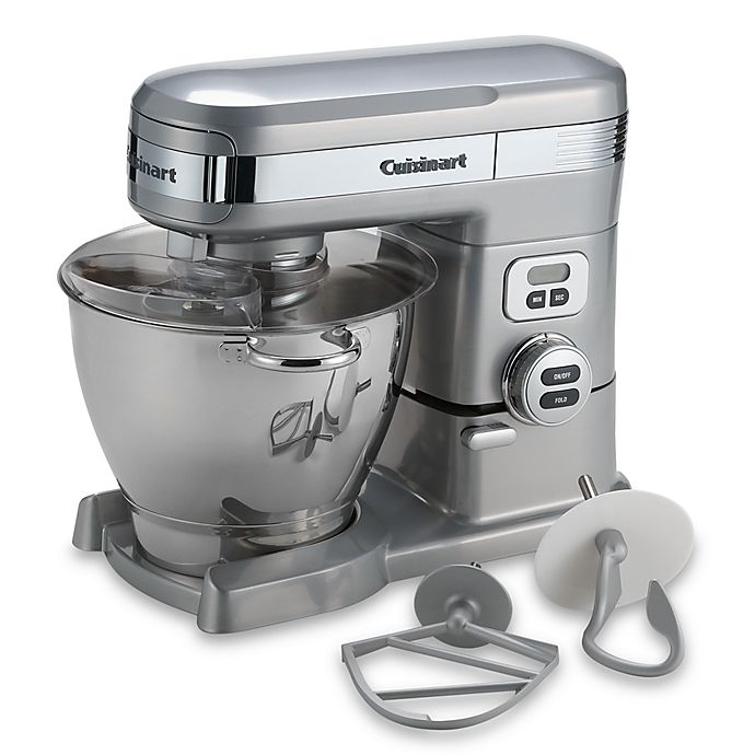 Alternate image 1 for Cuisinart® 5.5-Quart Stand Mixer in Brushed Chrome