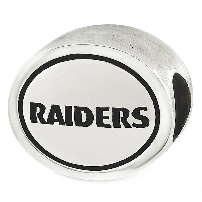 Alternate image 1 for Sterling Silver NFL Oakland Raiders Antiqued Charm Bead