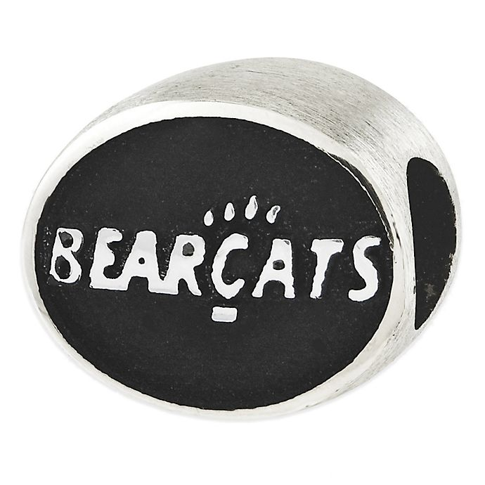 Alternate image 1 for Sterling Silver Collegiate University of Cincinnati Bearcats Antiqued Charm Bead