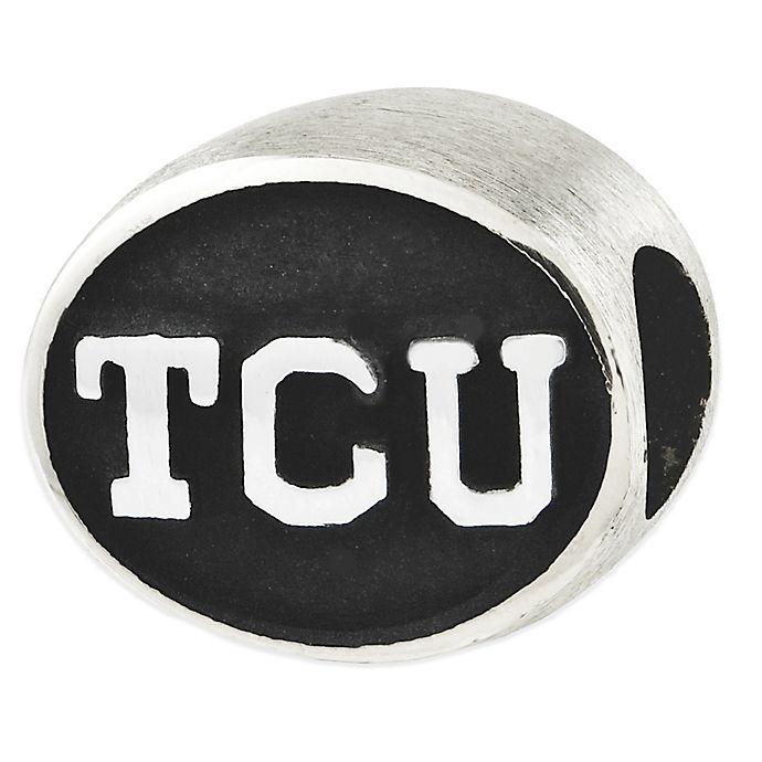 Alternate image 1 for Sterling Silver Collegiate Texas Christian University Antiqued Charm Bead
