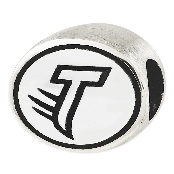 Alternate image 1 for Sterling Silver Collegiate Towson University Antiqued Charm Bead