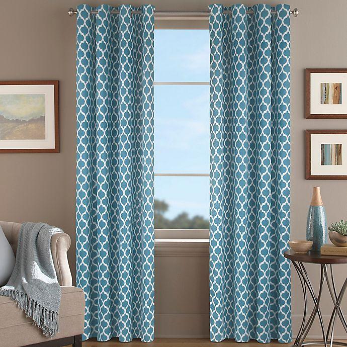 Alternate image 1 for Morocco 95-Inch Window Curtain Panel in Aqua