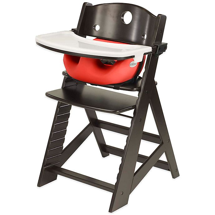 Alternate image 1 for Keekaroo® Height Right High Chair Espresso with Cherry Infant Insert and Tray