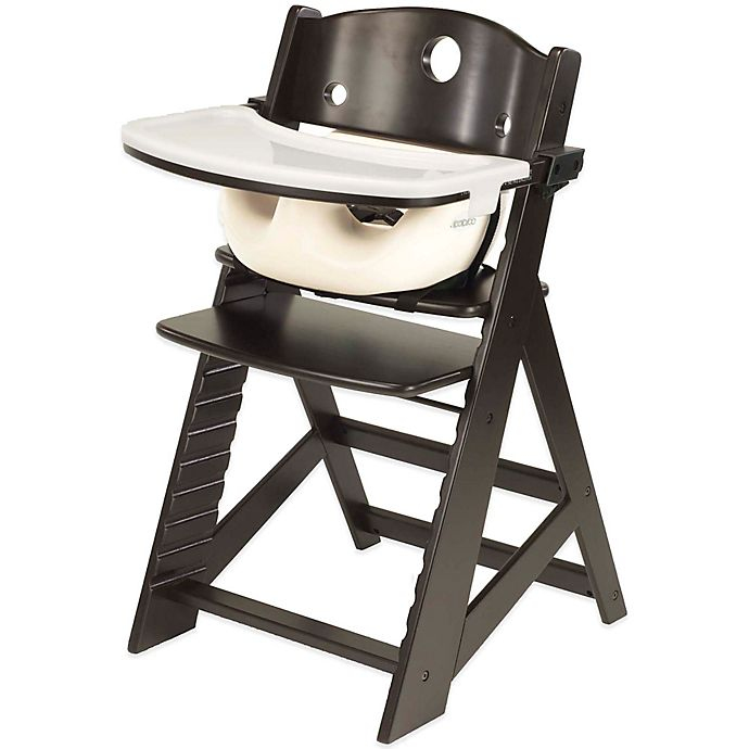 Alternate image 1 for Keekaroo® Height Right High Chair Espresso with Vanilla Infant Insert and Tray