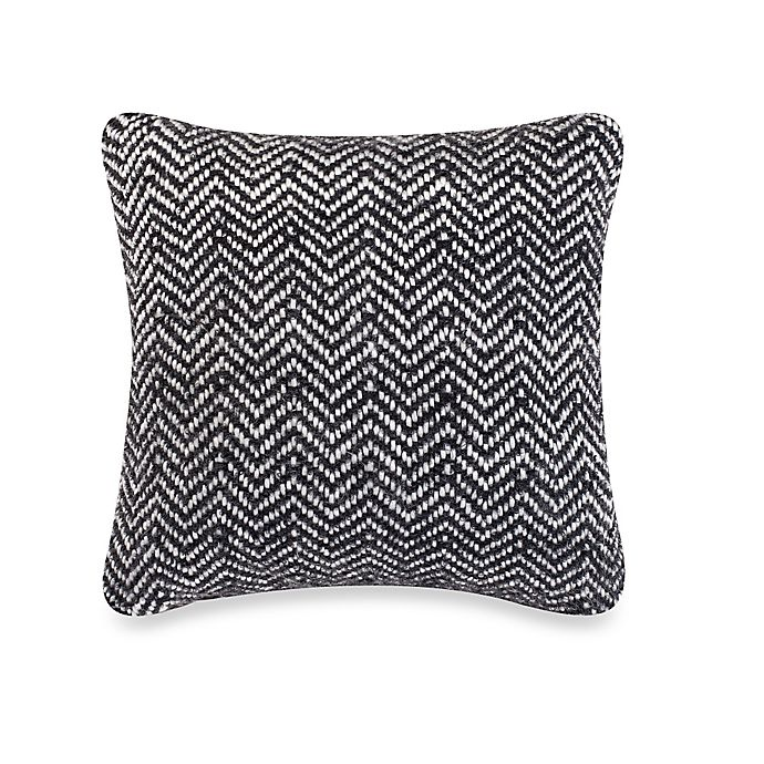 Kenneth Cole Reaction Home Obsidian Chevron Woven Square