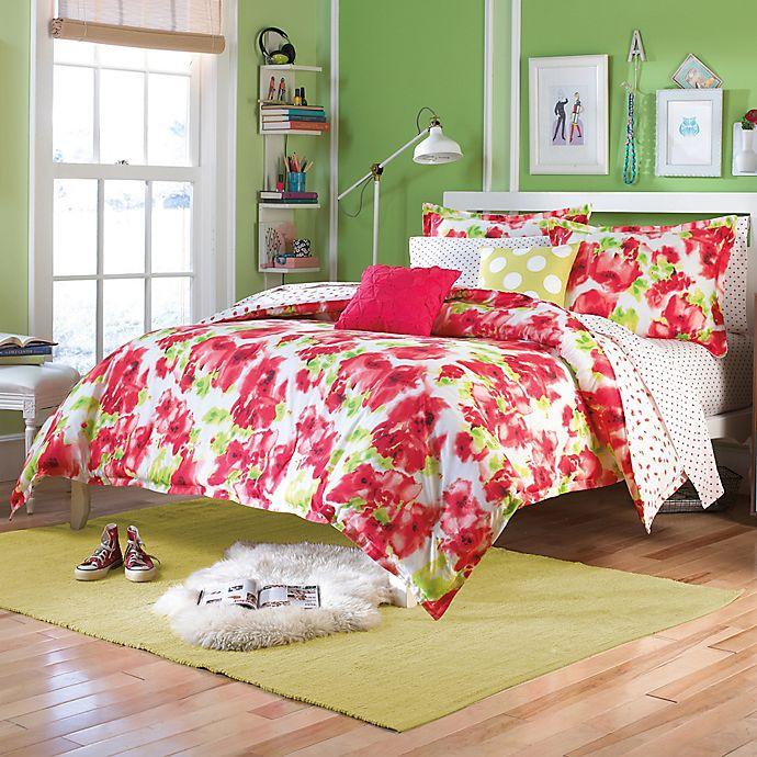 Teen Vogue® Painted Poppy Comforter Set in Red