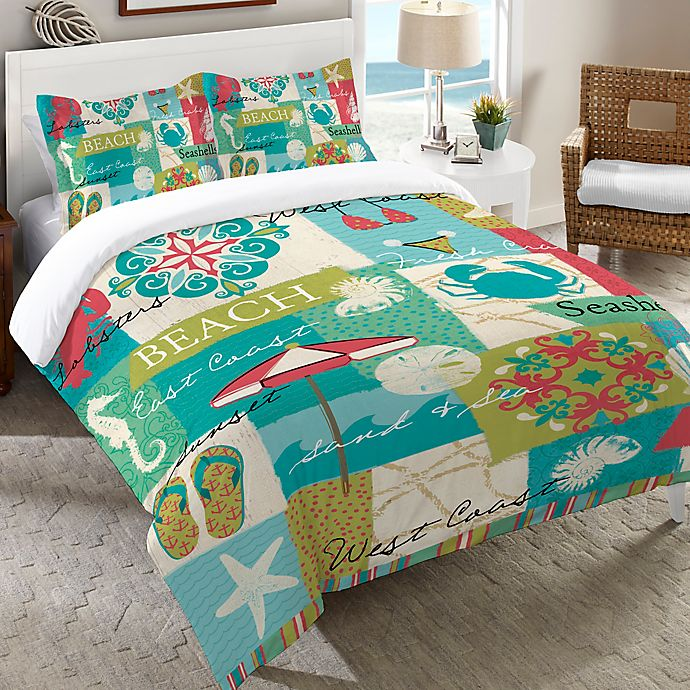 Alternate image 1 for Laural Home® Coastal Party Duvet Cover