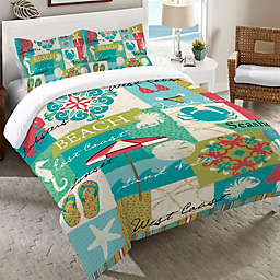 Laural Home® Coastal Party King Duvet Cover
