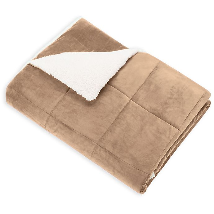 Alternate image 1 for SoSoft™ Plush Throw in Tan