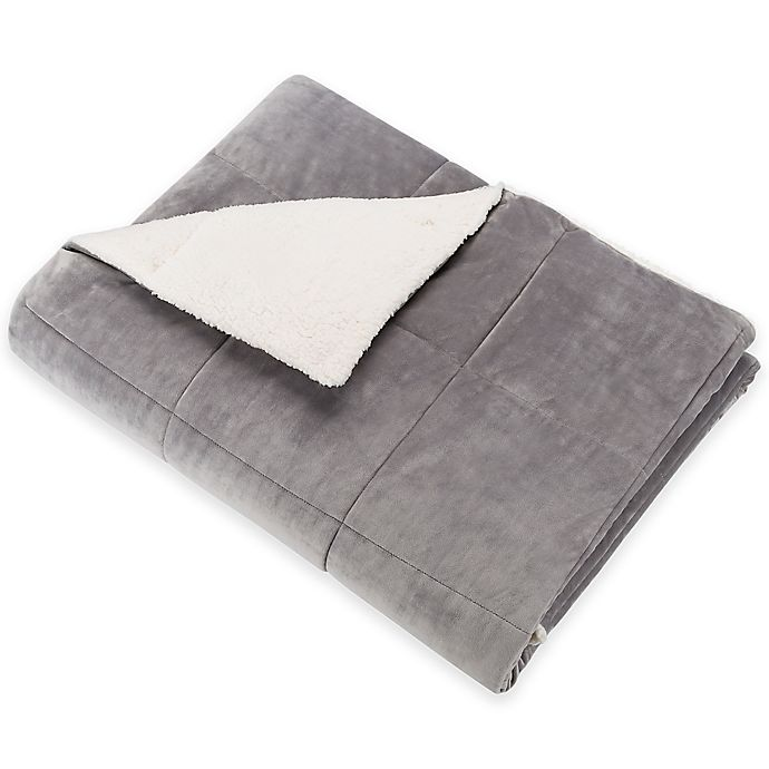 Alternate image 1 for SoSoft™ Plush Throw in Charcoal