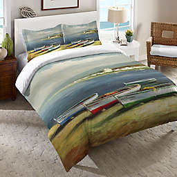 Laural Home® Boats on the Beach Duvet Cover