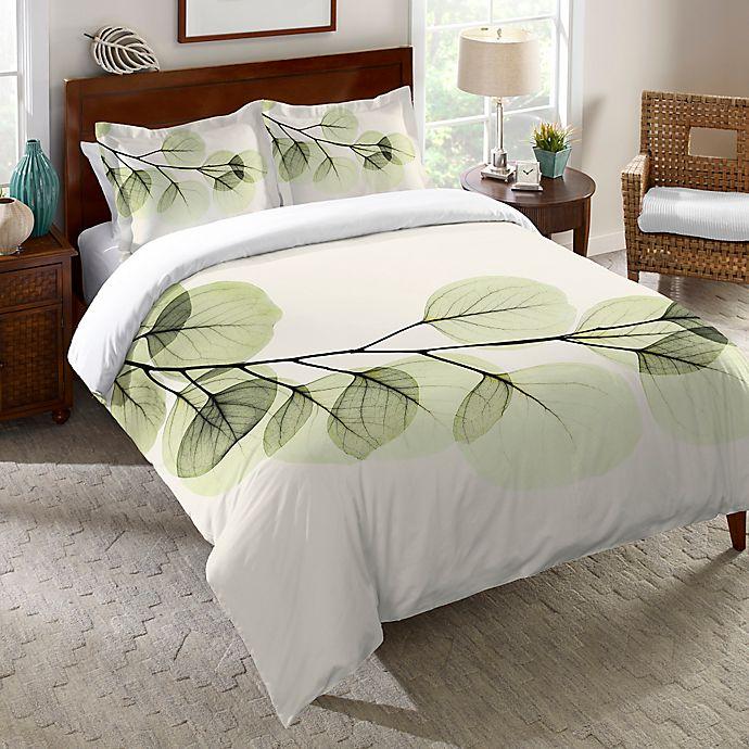 Alternate image 1 for Laural Home® Eucalyptus X-Ray Duvet Cover in Green