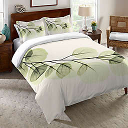 Laural Home® Eucalyptus X-Ray Duvet Cover in Green