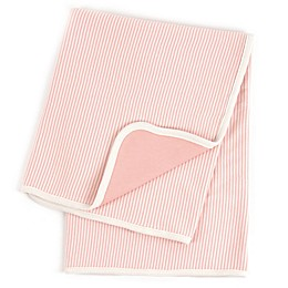 Tadpoles™ by Sleeping Partners Pinstripe Organic Cotton Receiving Blanket in Coral