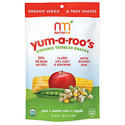 NurturMe Yum-a-Roo's 1 oz. Pea + Sweet Corn + Apple Organic Toddler Snacks
