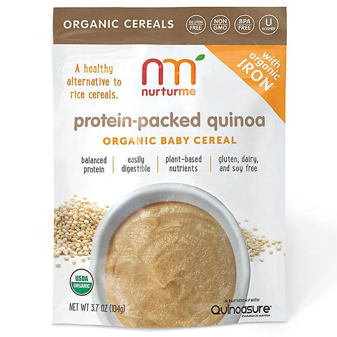 Alternate image 1 for NurturMe 3.7 oz. Protein-Packed Quinoa Organic Baby Cereal