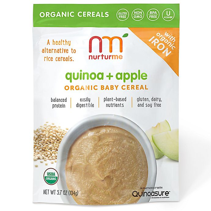 Alternate image 1 for NurturMe 3.7 oz. Quinoa + Apple Organic Baby Cereal