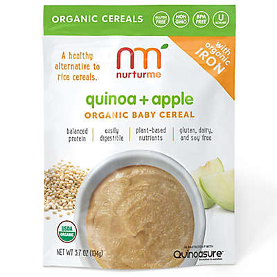 NurturMe 3.7 oz. Quinoa + Apple Organic Baby Cereal