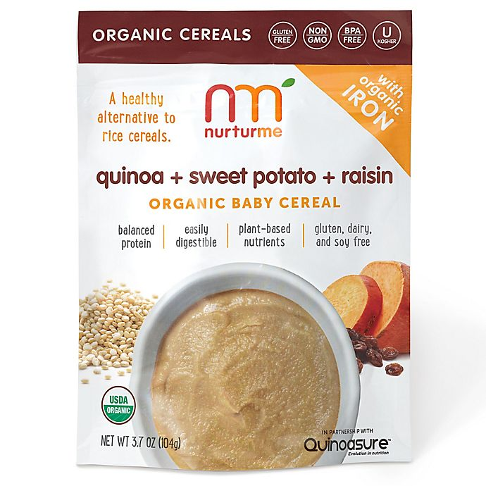 Alternate image 1 for NurturMe 3.7 oz. Quinoa + Sweet Potato + Raisin Organic Baby Cereal
