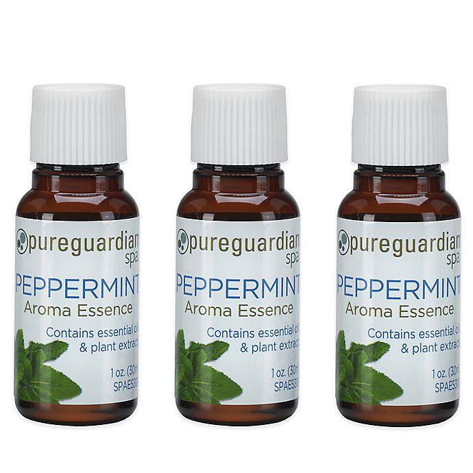 Alternate image 1 for PureGuardian® 3-Pack 1 oz. Peppermint Aroma Essence Oil