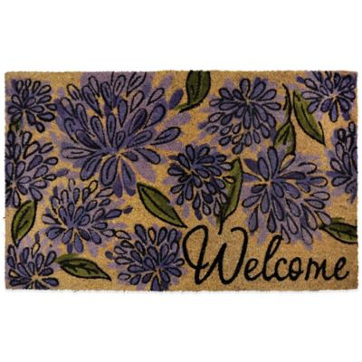 22 Inch X 36 Inch Quot Welcome Quot Vinyl Backed Coir Door Mat In