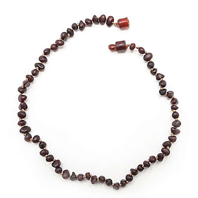 Healing Hazel Baltic Amber 10.5-Inch Baby Necklace in Raw Cherry