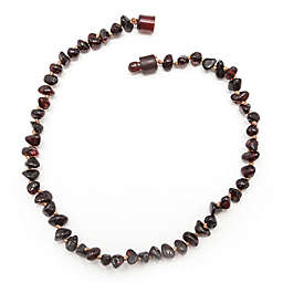 Healing Hazel Baltic Amber 11-Inch Baby Necklace in Polished Cherry