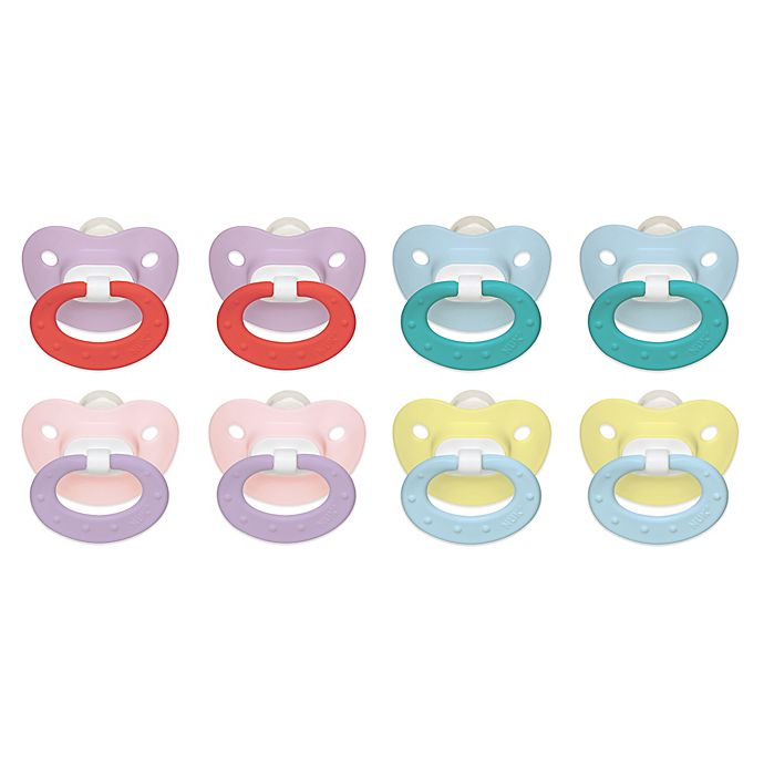 Alternate image 1 for NUK® 0-6M 2-Pack Orthodontic Silicone Pacifiers