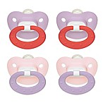 NUK® 0-6M 2-Pack Orthodontic Silicone Pacifiers in Pink/Purple