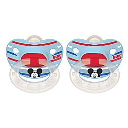 NUK® Disney® Mickey Mouse 2-Pack Orthodontic Pacifiers in White/Blue Multi