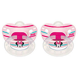 NUK® Disney® Minnie Mouse 2-Pack Orthodontic Pacifiers in White/Pink