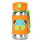SKIP*HOP® Zoo 12 oz. Stainless Steel Dog Straw Bottle