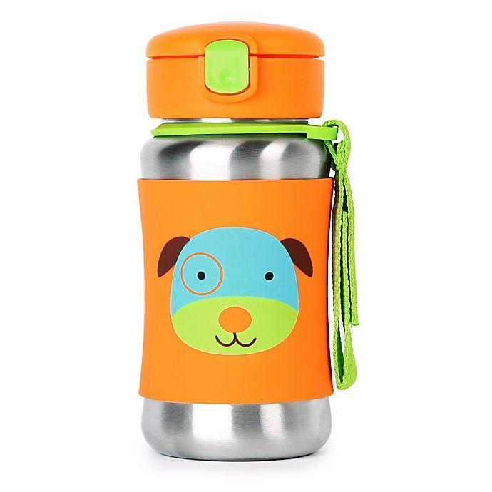 Alternate image 1 for SKIP*HOP® Zoo 12 oz. Stainless Steel Dog Straw Bottle