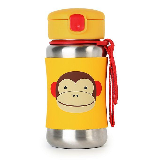 Alternate image 1 for SKIP*HOP® Zoo 12 oz. Stainless Steel Monkey Straw Bottle