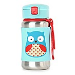 SKIP*HOP® Zoo 12 oz. Stainless Steel Owl Straw Bottle