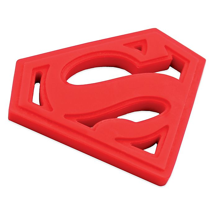 Alternate image 1 for Bumkins® DC Comics Silicone Superman Teether