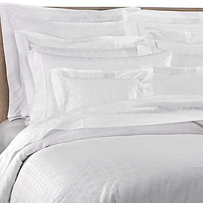 Bellino Fine Linens® Viennese Netting Jacquard Cotton Duvet Cover in White
