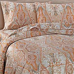 Bellino Fine Linens® Paisley Cotton Duvet Cover in Orange
