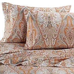 Bellino Fine Linens® Paisley 300-Thread-Count Sheet Set in Orange