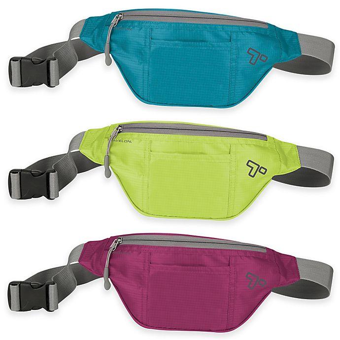 Alternate image 1 for Travelon® 10-Inch Top Zip Anti-Theft Waist Pack