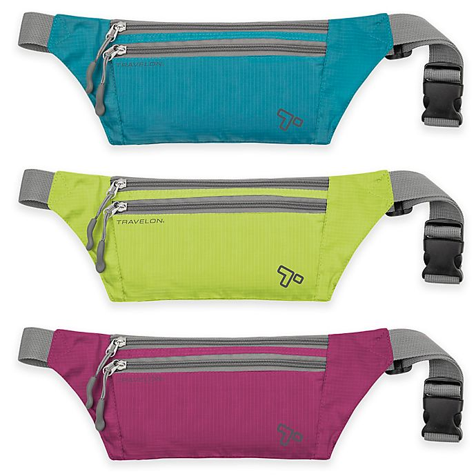 Alternate image 1 for Travelon® 8.5-Inch Double Zip Waist Pack