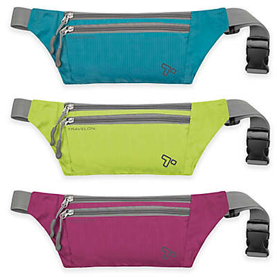 Travelon® 8.5-Inch Double Zip Waist Pack