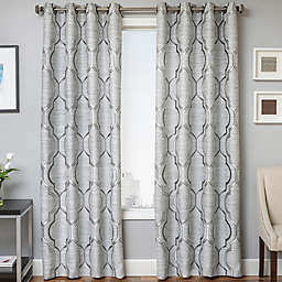 Trinidad 108-Inch Window Curtain Panel in Platinum (Single)