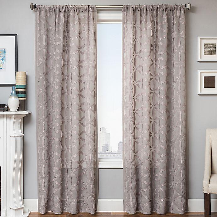 Alternate image 1 for Celestia 84-Inch Window Curtain Panel in Light Grey