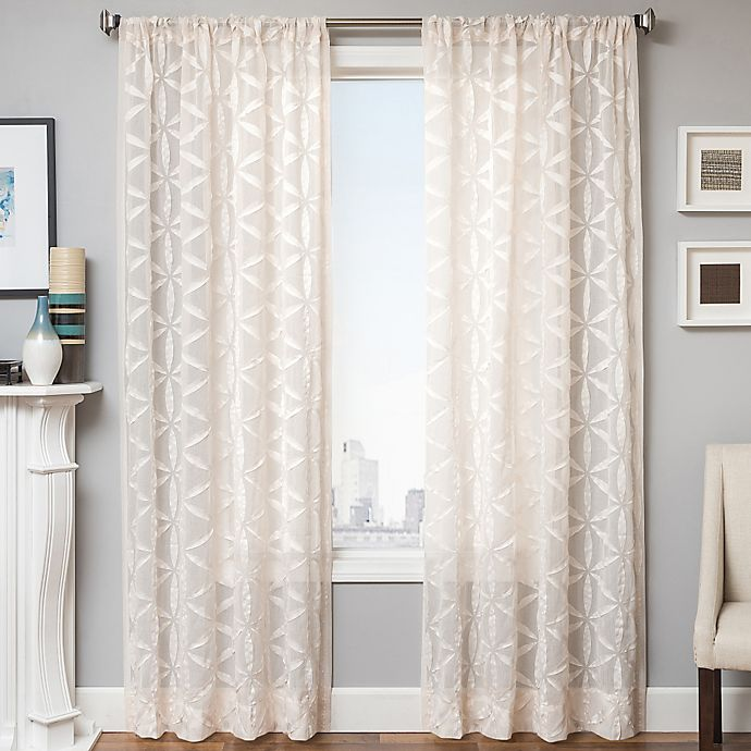Alternate image 1 for Celestia  84-Inch Window Curtain Panel in Natural